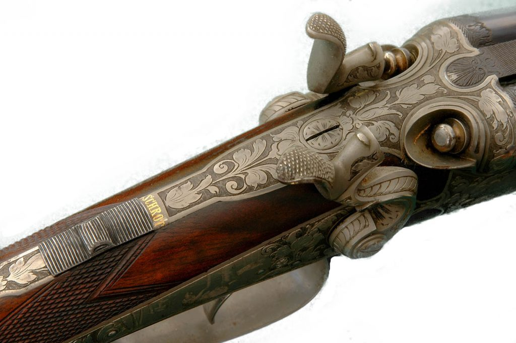 Sauer Dresden, caliber 20 - 2 x 11,15x60R, shotgun barrel damascus. ©Fredrik Franzen