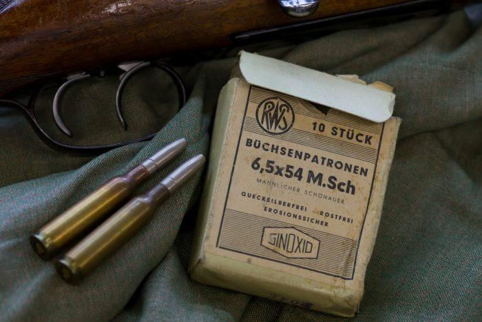 Mannlicher Schšnauer Mod. 1950 in kurzer Stutzen AusfŸhrung im Kaliber 6,5x54 mit RWS Munition.