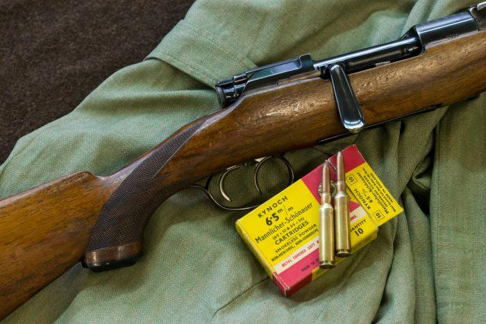 Mannlicher Schšnauer Mod. 1950 in kurzer Stutzen AusfŸhrung im Kaliber 6,5x54 mit Kynoch Munition